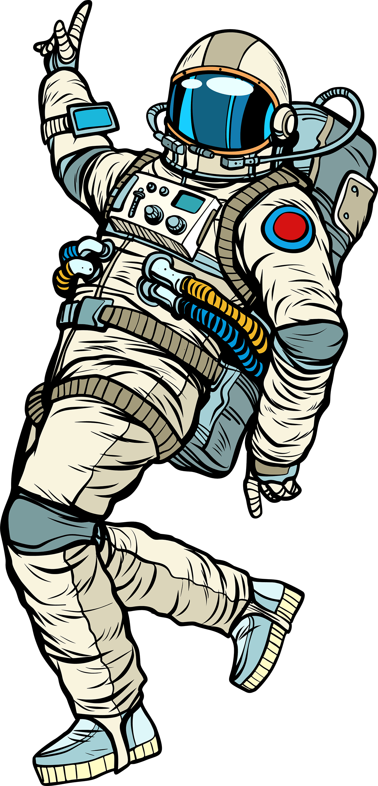 astronaut tanzend